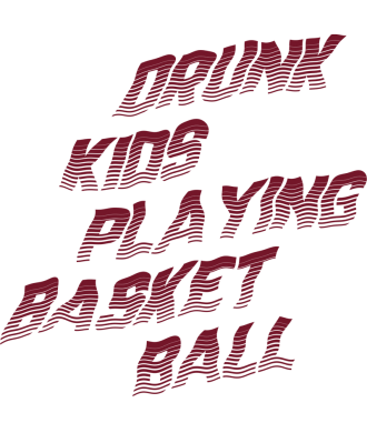 Drunk Kids Playing Basketball T-Shirt